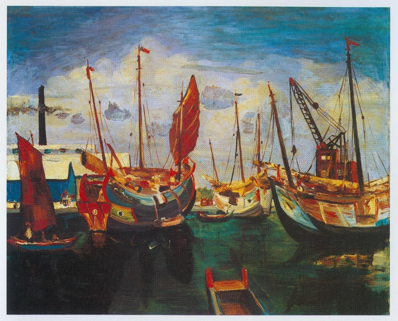 【名單之後】橫渡兩場相隔七十六年的展覽,一艘航向遠方的船:名島貢與他的《戎克船》