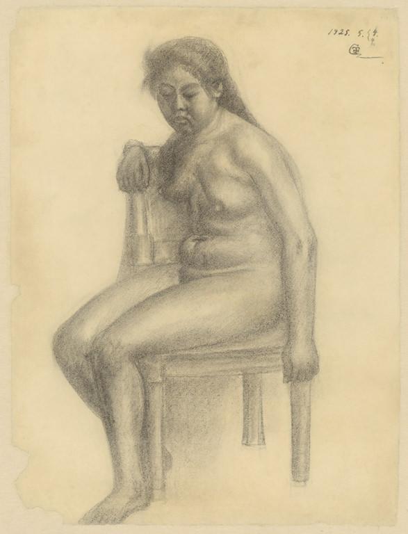 坐姿裸女素描-25.5.7~9(1)