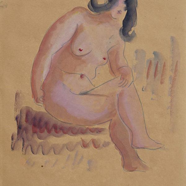 坐姿裸女(164)